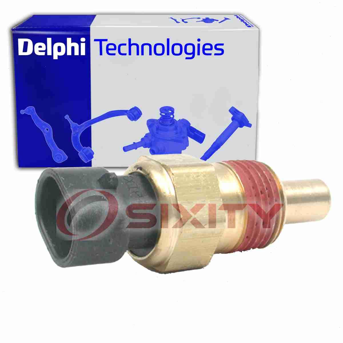 Delphi Coolant Temperature Sensor for 1985-1999 GMC K1500 5.7L V8 Engine xp