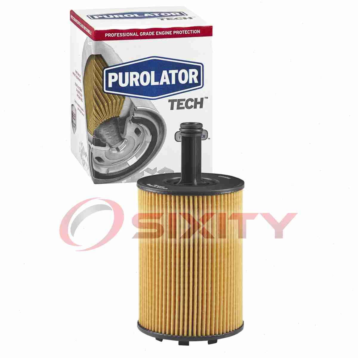 Long bc Purolator TECH Engine Oil Filter for 2014-2018 Dodge Grand Caravan