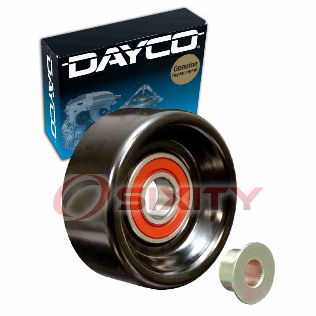 details about dayco drive belt idler pulley for 2001-2007 dodge grand  caravan 3 3l 3 8l v6 vk