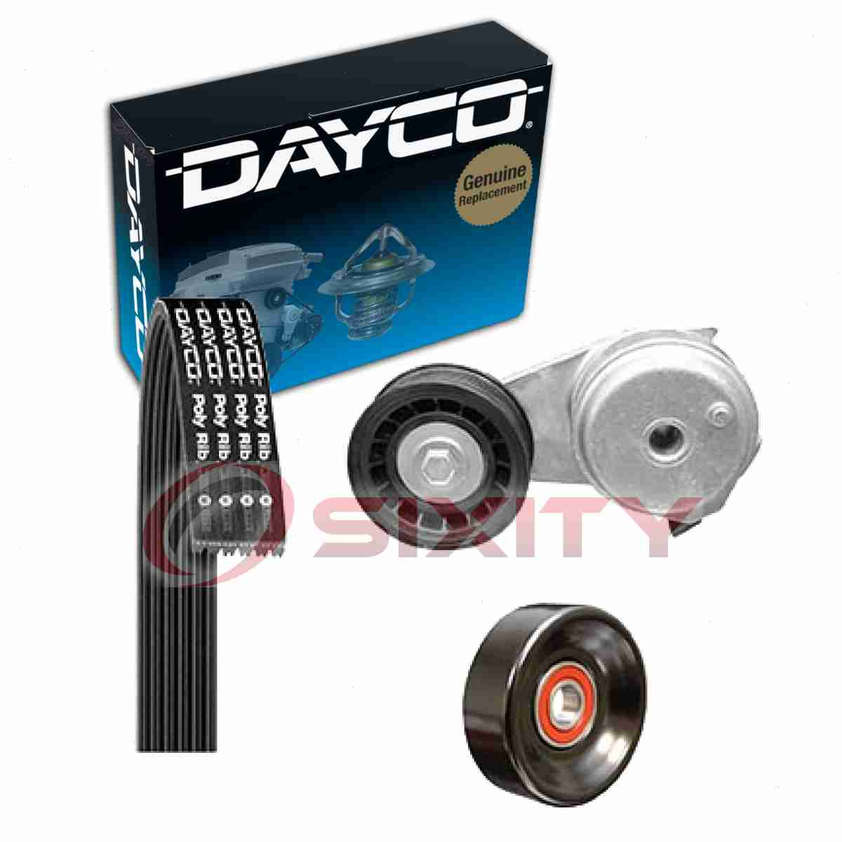 Serpentine Belt Drive Component Kit Dayco fits 05-10 Ford Mustang 4.0L-V6