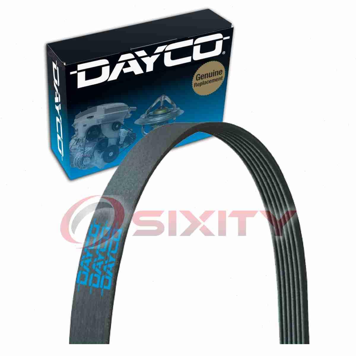 dayco serpentine belt for 1992-1997 isuzu trooper - v belt ribbed