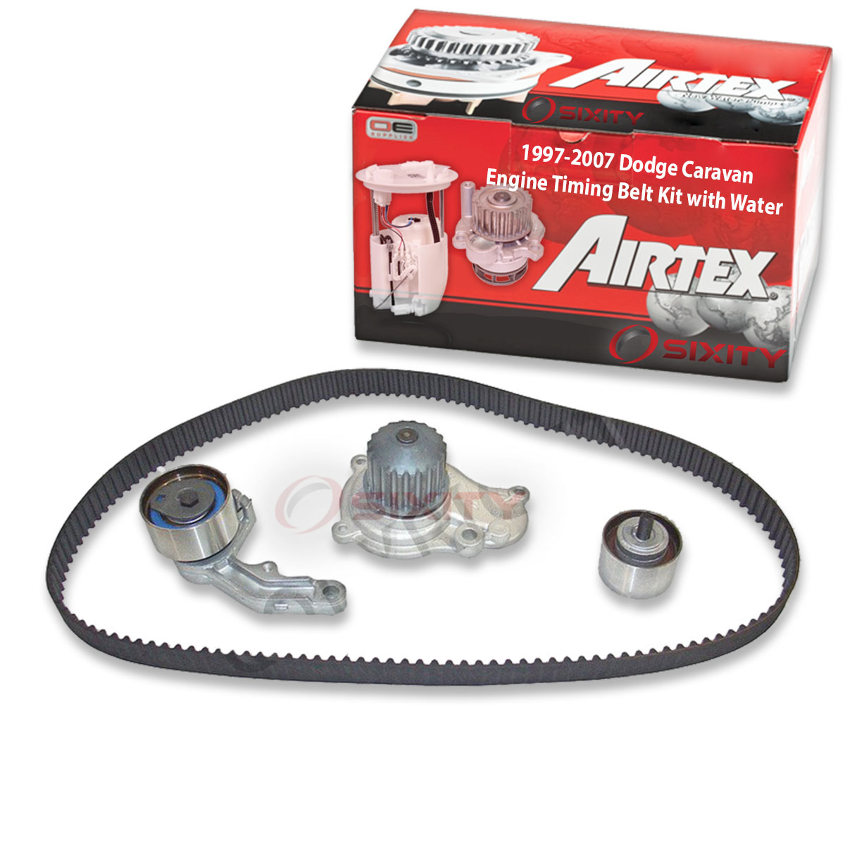 Airtex AWK1225 Engine Timing Belt Kit with Water Pump Motors ...