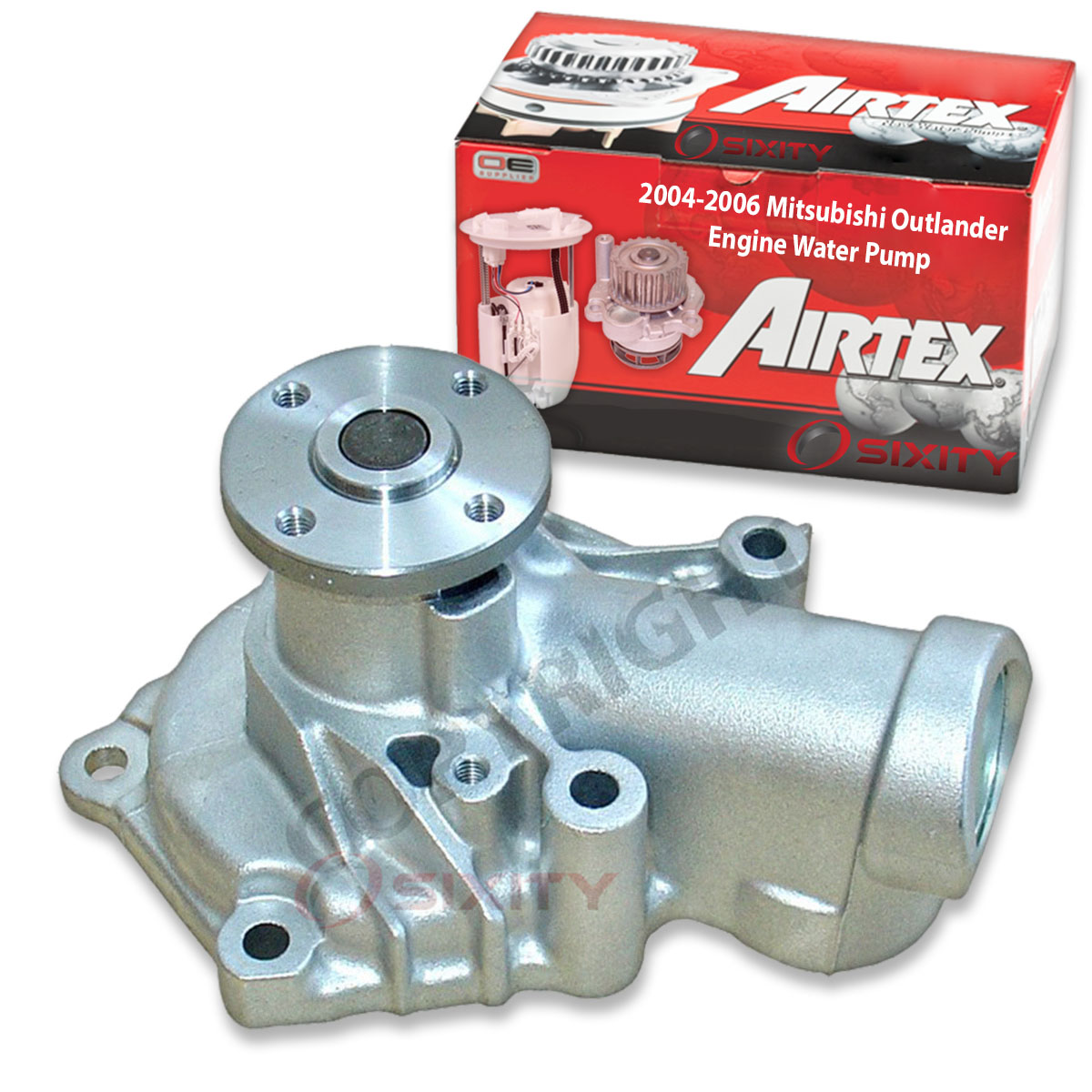 Coolant sf Gates Engine Water Pump for 2004-2006 Mitsubishi Outlander 2.4L L4