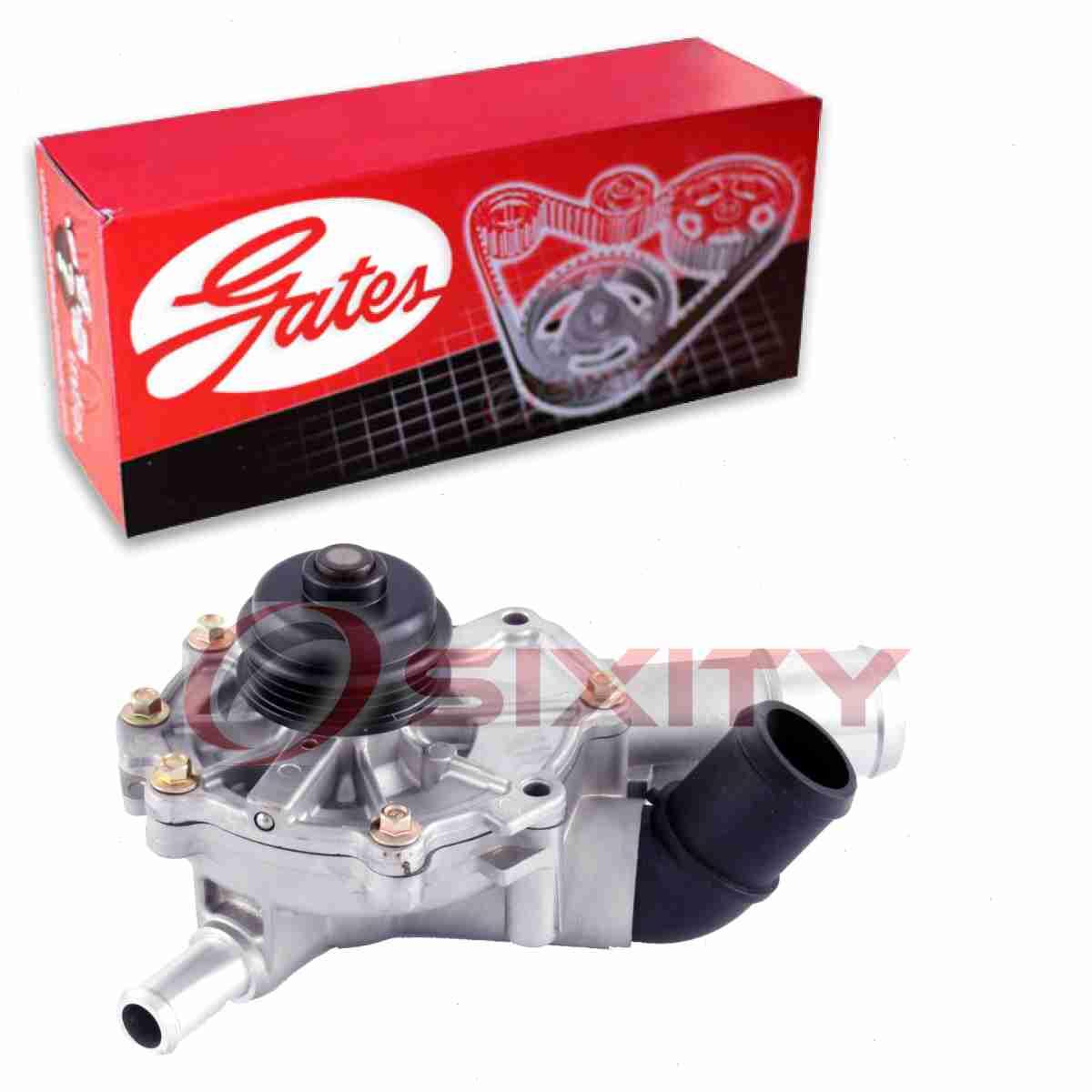 Coolant ro Gates Engine Water Pump for 2003-2008 Mazda Tribute 3.0L V6