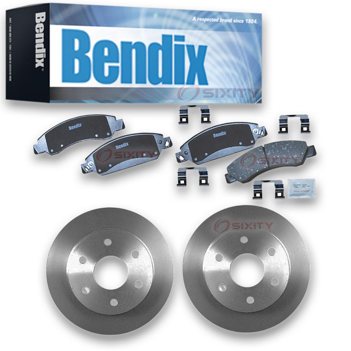 Tahoe Front Blank Brake Rotors+Ceramic Pads For 2000 Chevrolet Suburban 1500