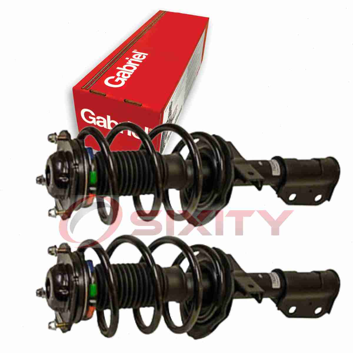 Front Complete Struts /& Rear Bare Shock Absorbers Compatible with 2008-2012 Buick Enclave Set of 4