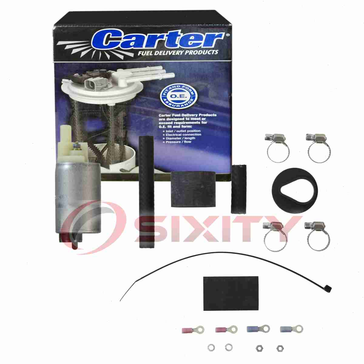 Carter In-Tank Fuel Pump for 1984-1987 BMW 325e 2.7L L6 Electric Inline fp
