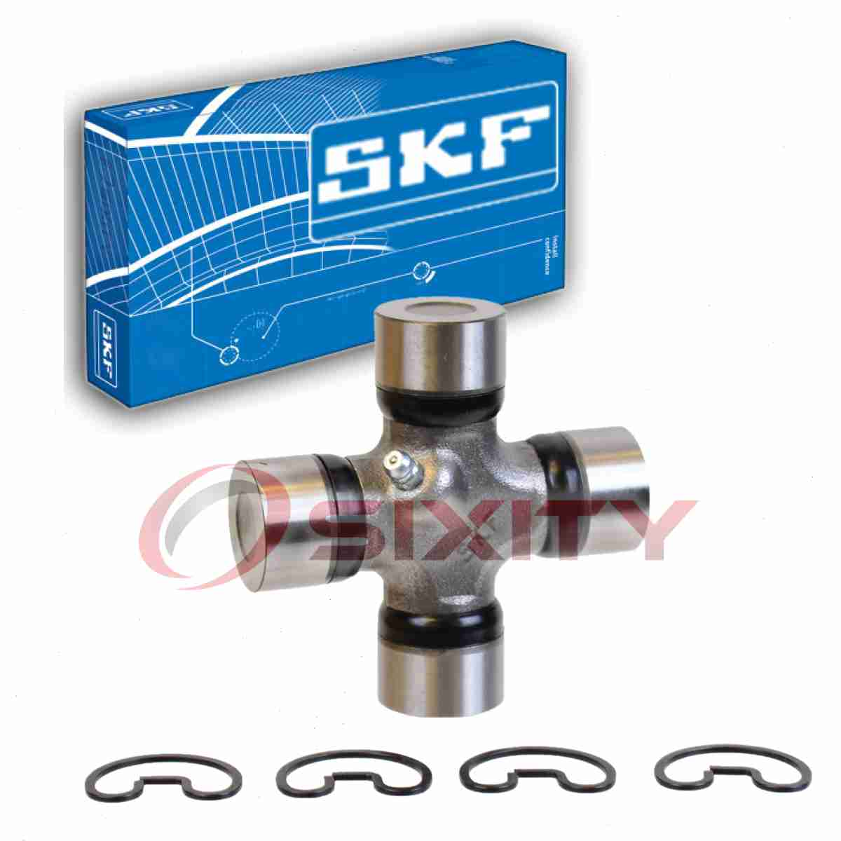 SKF Rear Universal Joint U-Bolt Kit for 1967-1972 Chevrolet C10 Pickup 3.8L gy