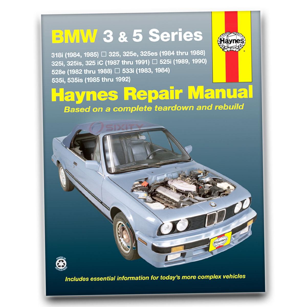 bmw 325i 1987 1991 service repair manual