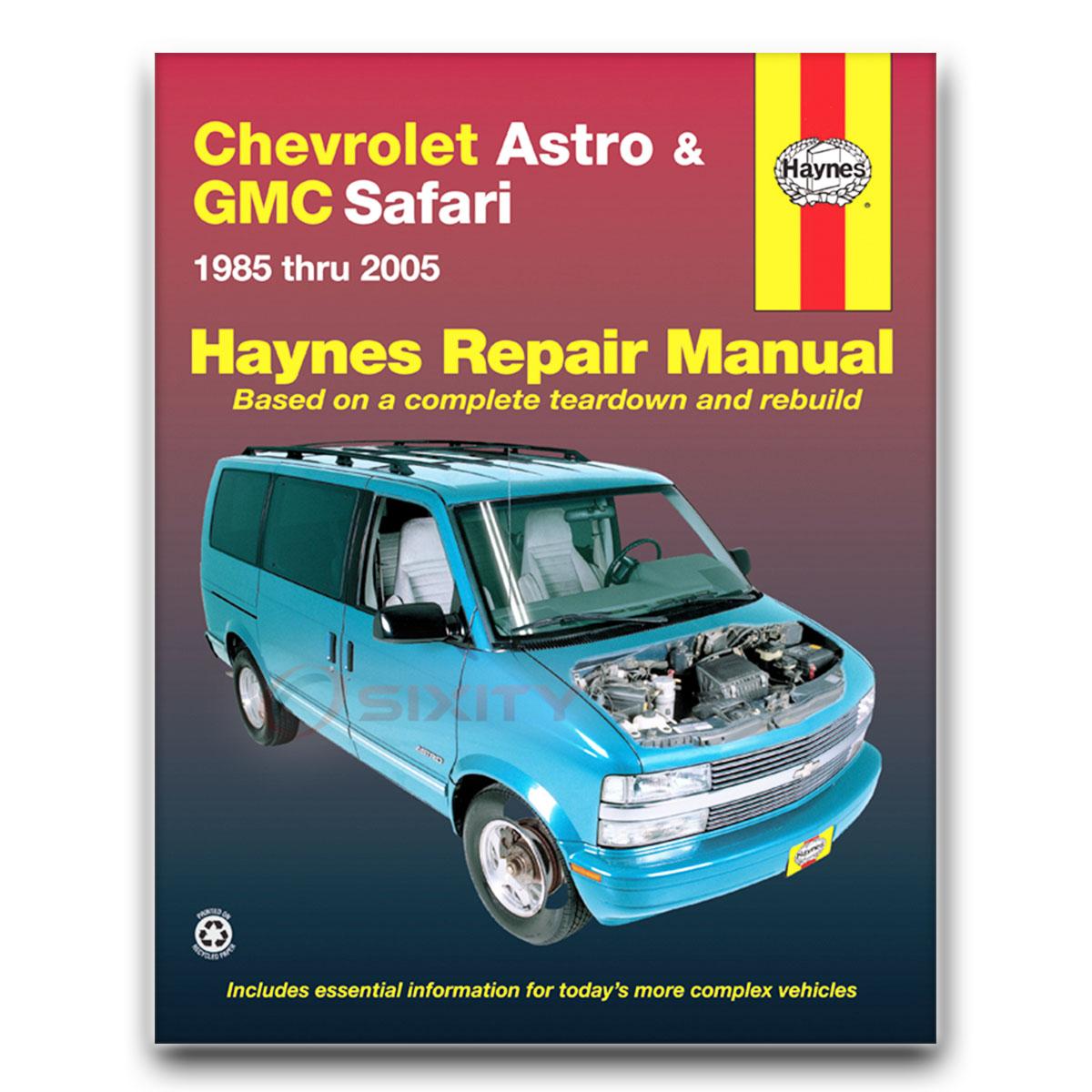 Haynes Repair Manual 24010 For Chevrolet Astro Gmc Safari Mini Van 85