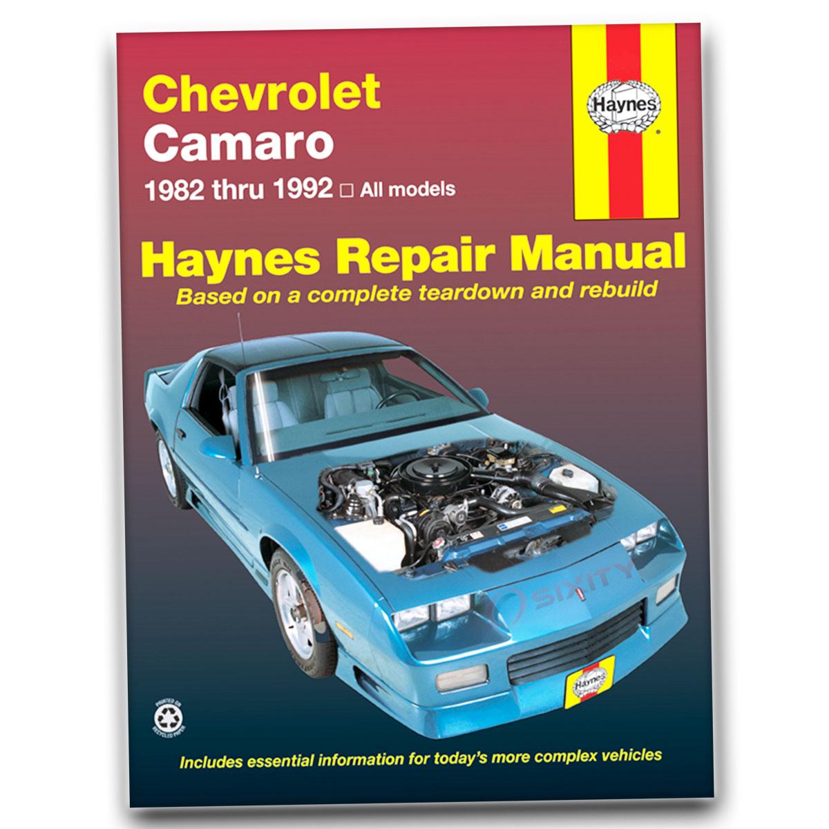 Haynes Repair Manual 24016 for Chevrolet Camaro 82-92 Shop Service Garage oi