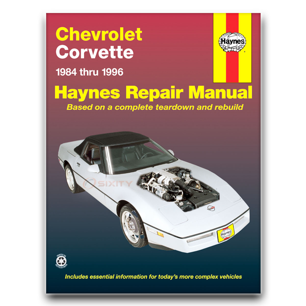 haynes chevrolet corvette 84 96 repair manual 24041 shop service rh ebay com 1984 corvette owners manual 85 Corvette