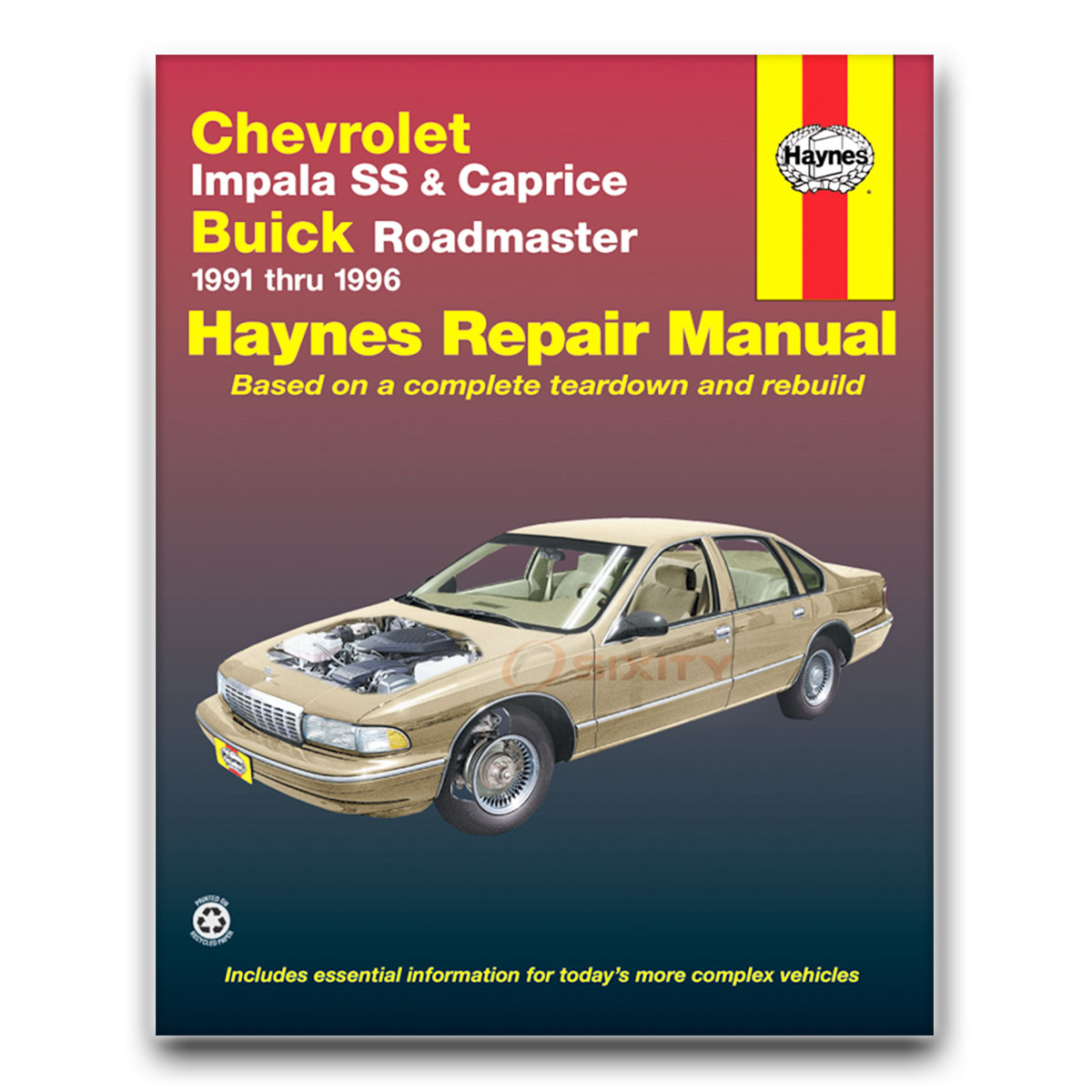 haynes chevrolet impala ss buick roadmaster 91 96 repair manual rh ebay com 95 Impala 1996 impala service manual
