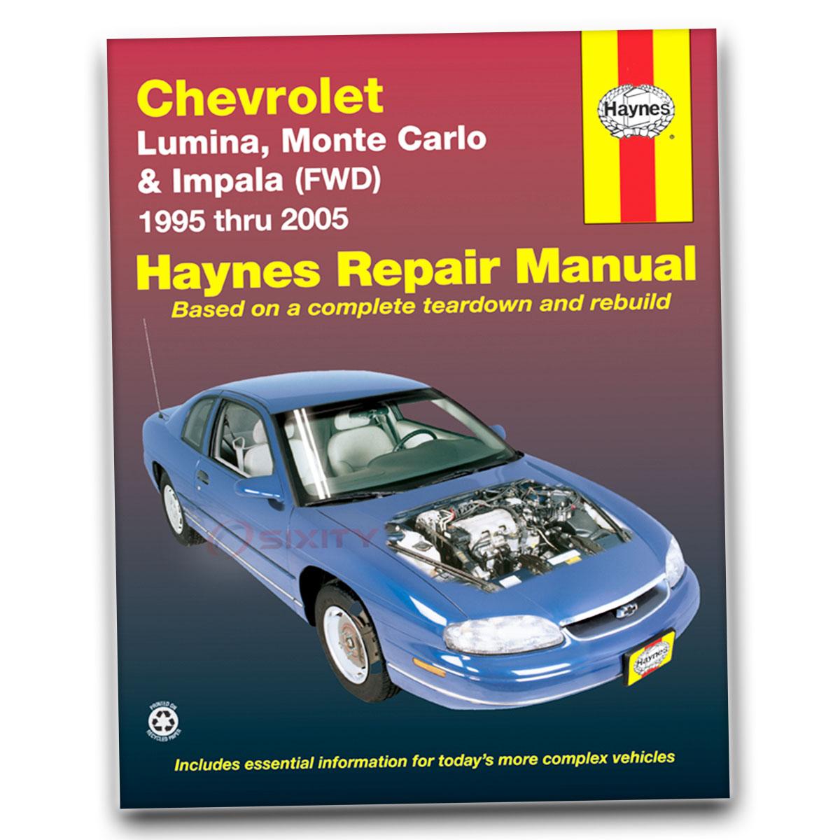 Haynes Repair Manual 24048 for Chevrolet Lumina Monte Carlo 95-05 Shop hr