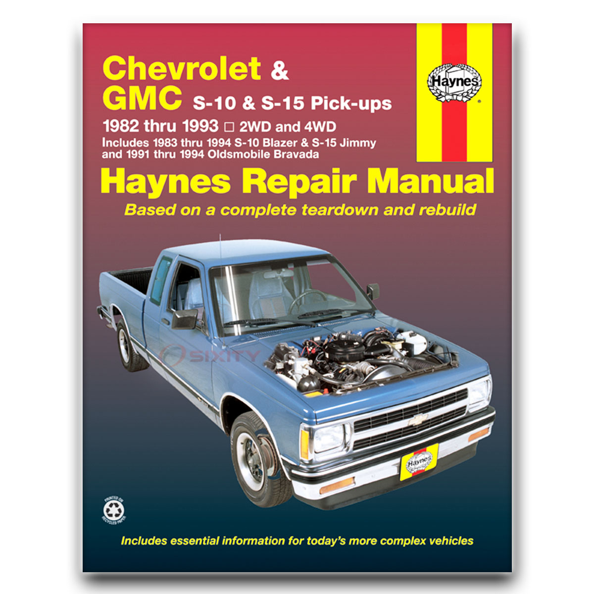 Haynes Repair Manual 24070 for Chevrolet S10 GMC S15 82-93 Shop Service rx