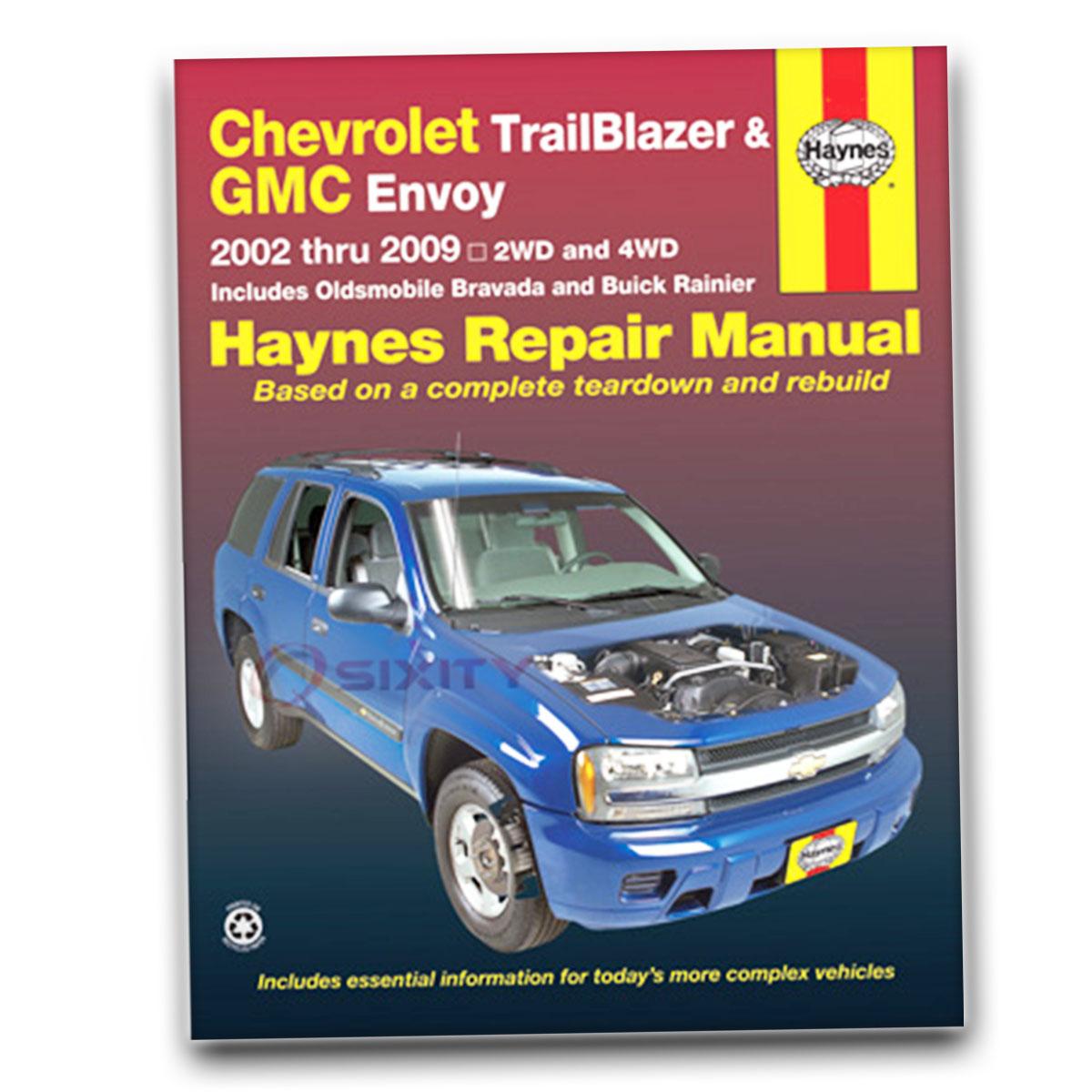 Haynes Repair Manual 24072 for Chevrolet TrailBlazer GMC Envoy Buick Rainer  lz