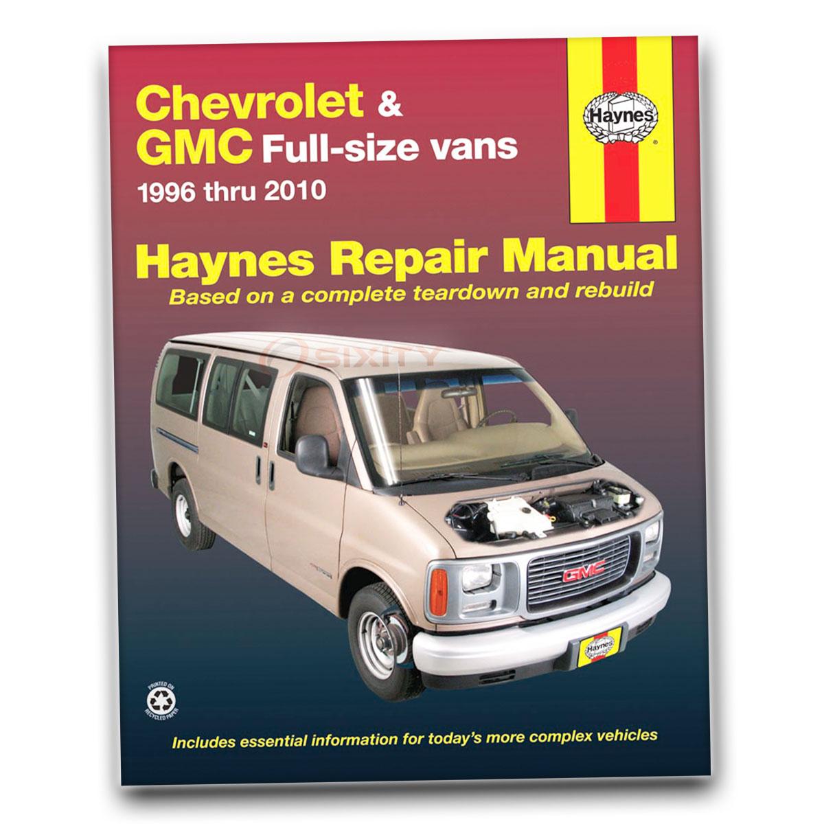 Haynes Repair Manual 24081 for Chevrolet GMC Full-size Vans 96-10 Shop lp