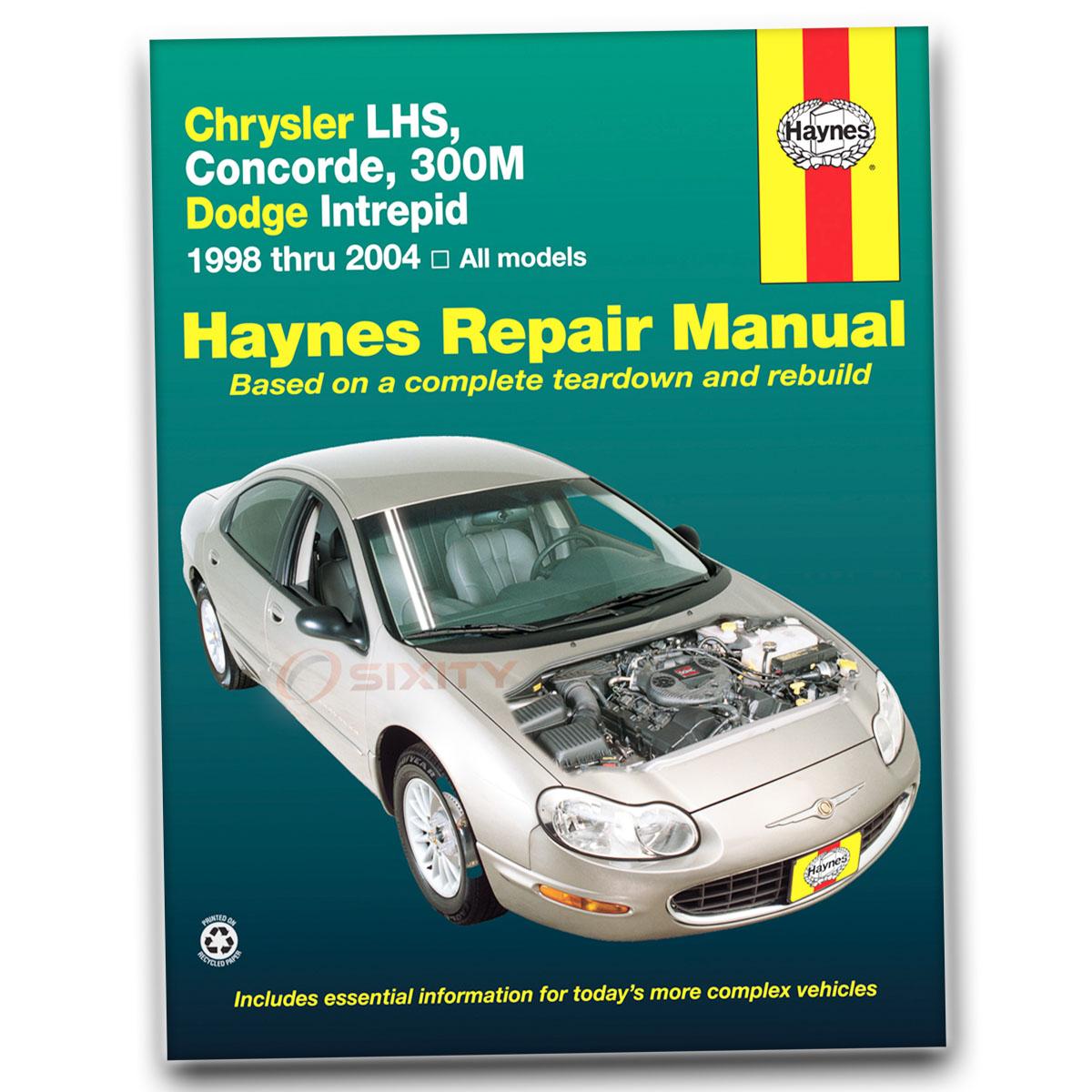 Haynes Repair Manual 25026 for Chrysler LHS Concorde 300M Dodge Intrepid ie