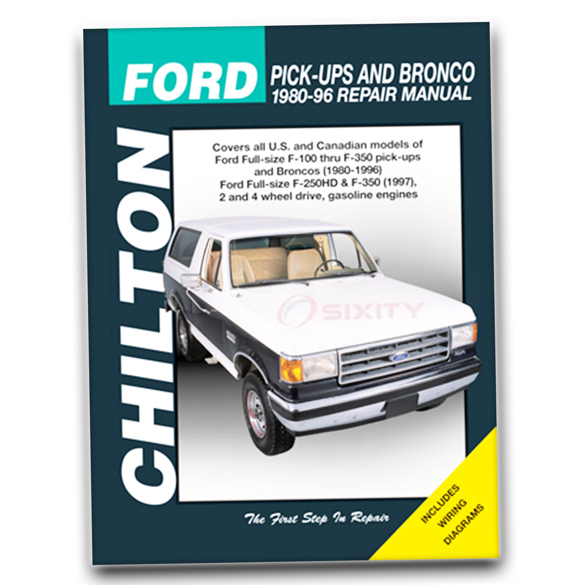 Chilton Repair Manual 26664 for Ford Pick-Ups Bronco 1987-96 Shop Service wl