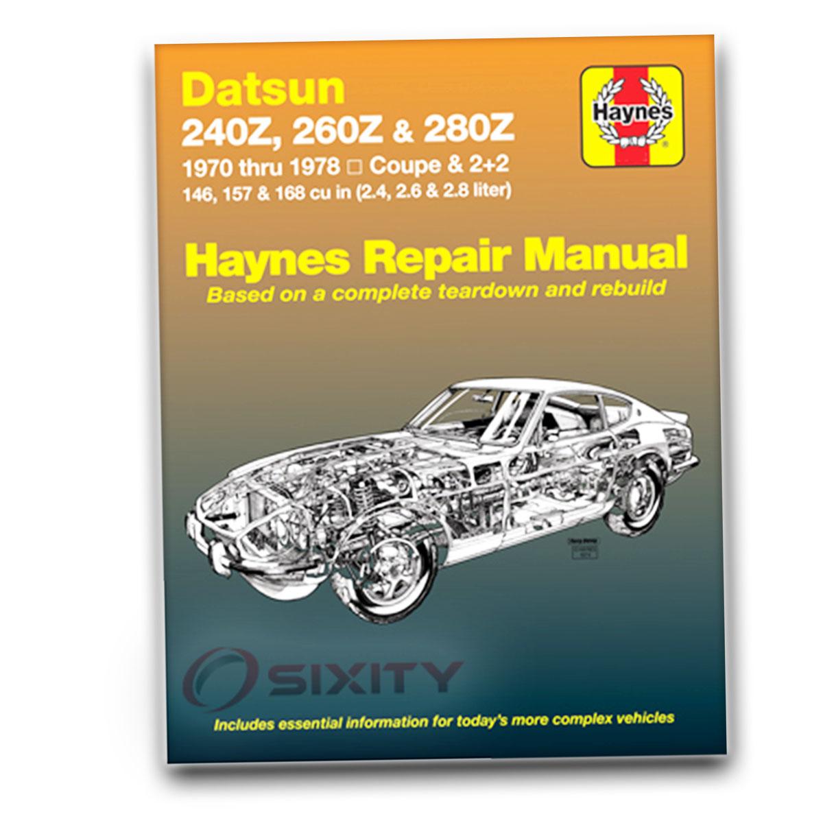 Haynes Repair Manual 28012 For Datsun 240z 260z 280z 70 78 Shop Nissan 280zx Heater Wiring Diagram Service Py