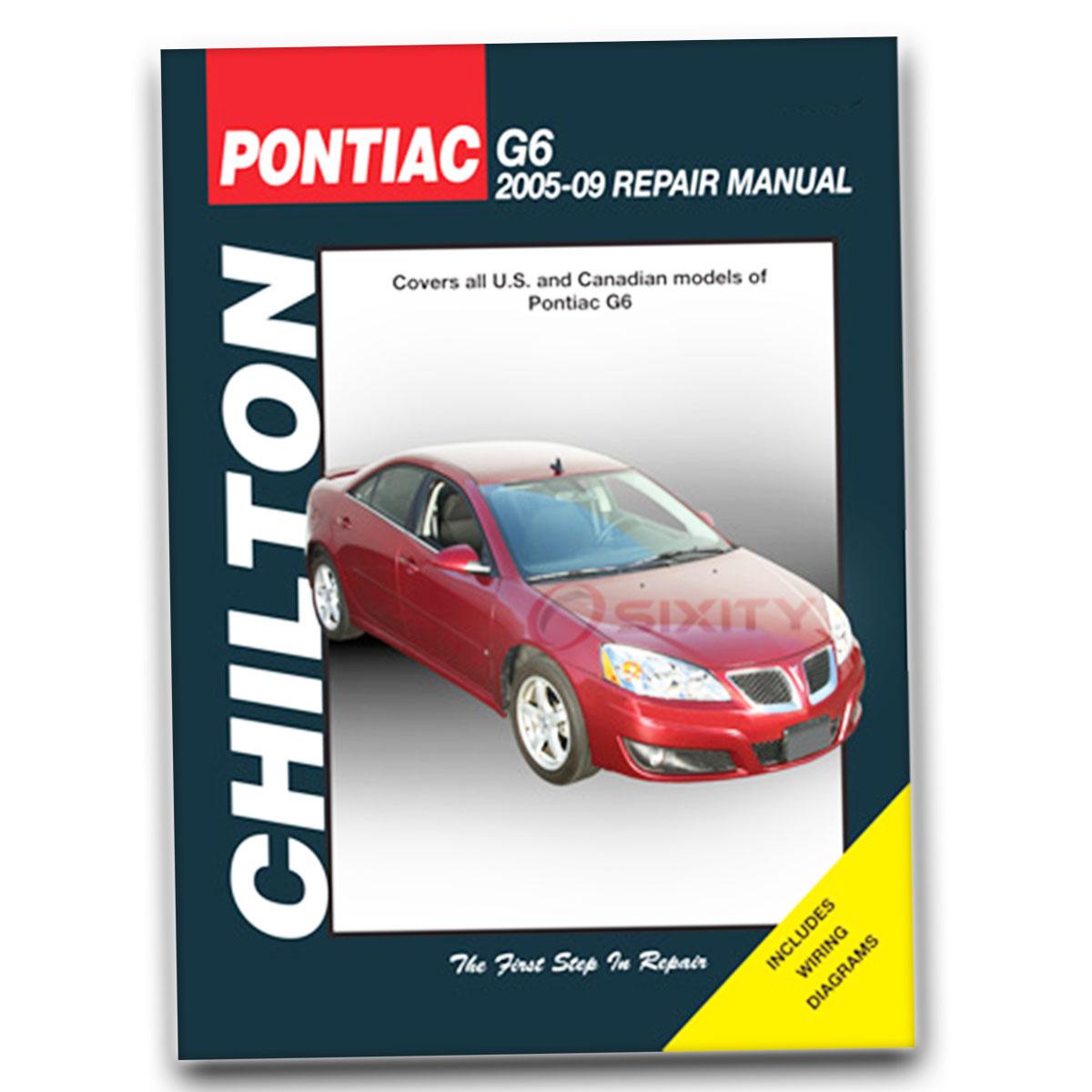 chilton pontiac g6 2005 09 repair manual 28730 shop service garage rh ebay com 2009 pontiac g6 maintenance guide 2008 Pontiac G6