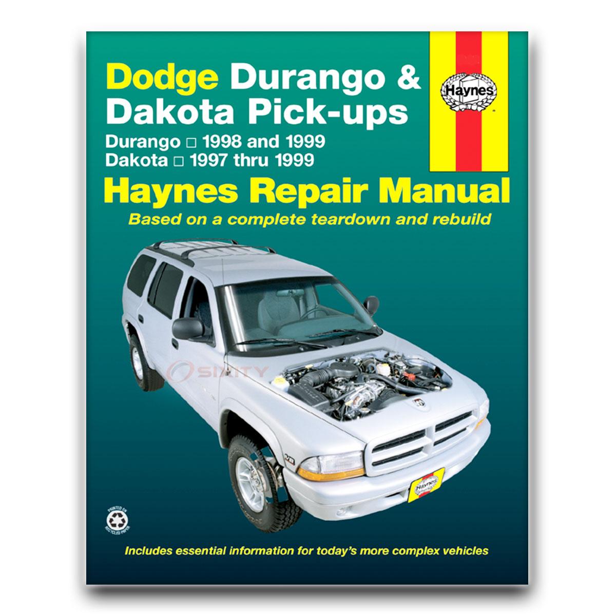 haynes dodge durango 98 99 dakota 97 99 repair manual. Black Bedroom Furniture Sets. Home Design Ideas