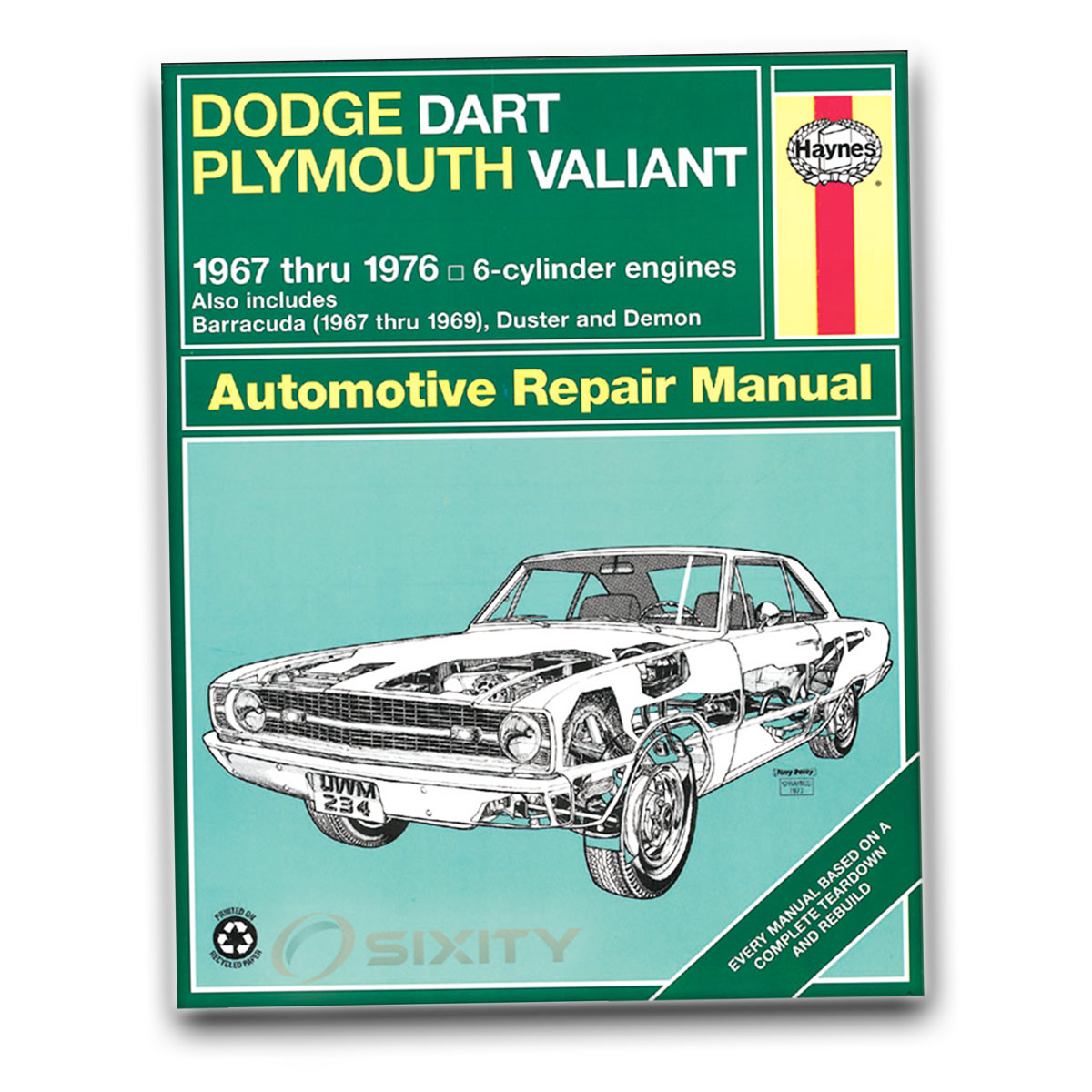 haynes dodge dart plymouth valiant 67 76 repair manual 30025 shop rh ebay com dodge dart service manual 2013 dodge dart maintenance manual