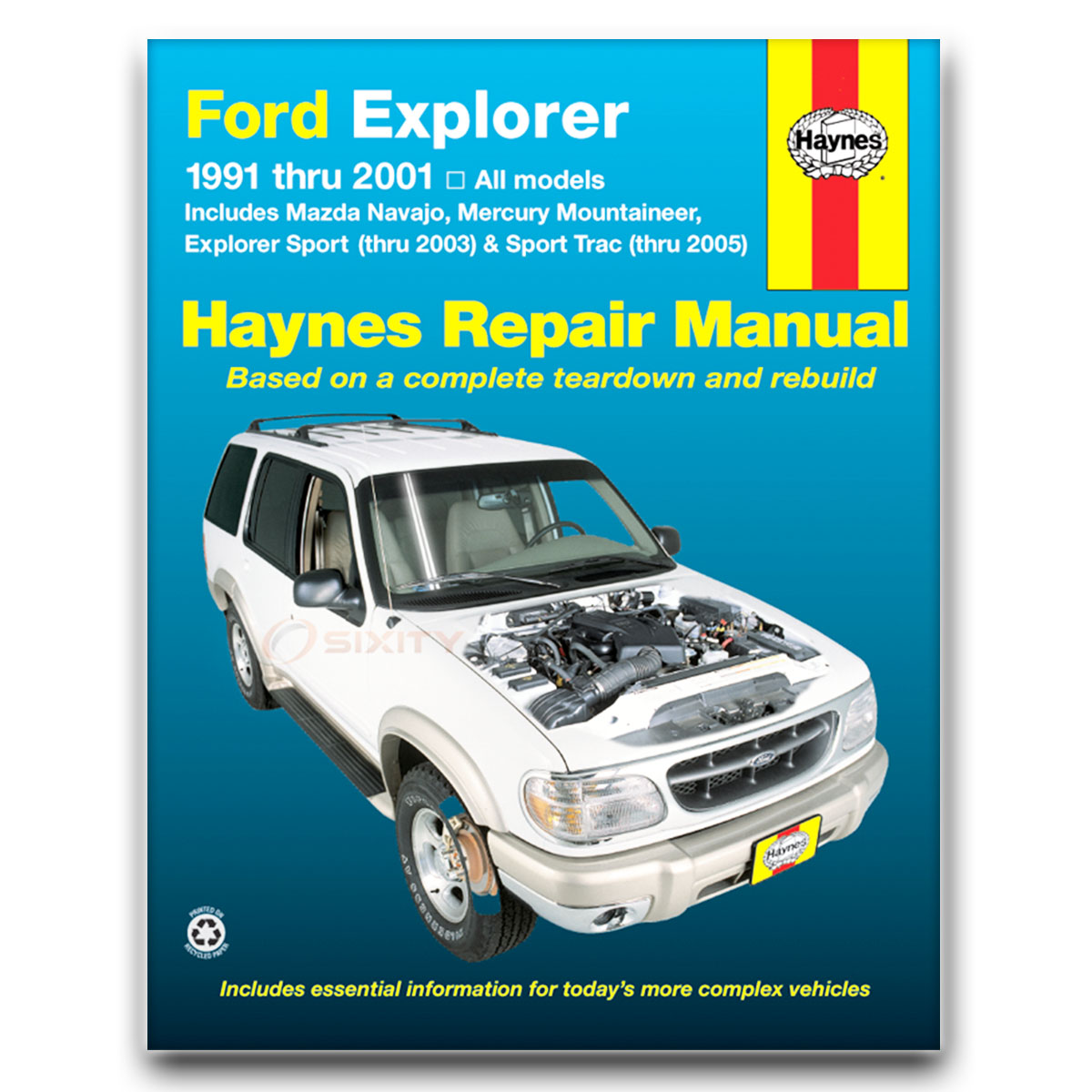 Haynes Repair Manual 36024 for Ford Explorer Mazda Navajo 91-01 Mercury vw
