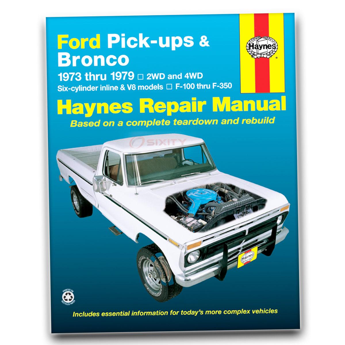Haynes Repair Manual 36054 for Ford Pick-up Bronco 73-79 Shop Service  Garage lq