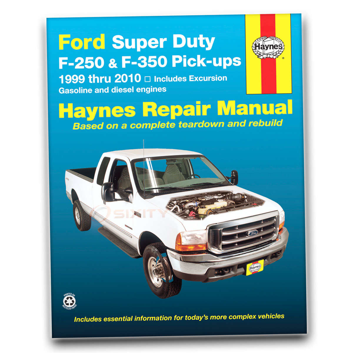 Haynes Repair Manual 36060 for Ford Super Duty F-250 350 Pick-ups Excursion  zo