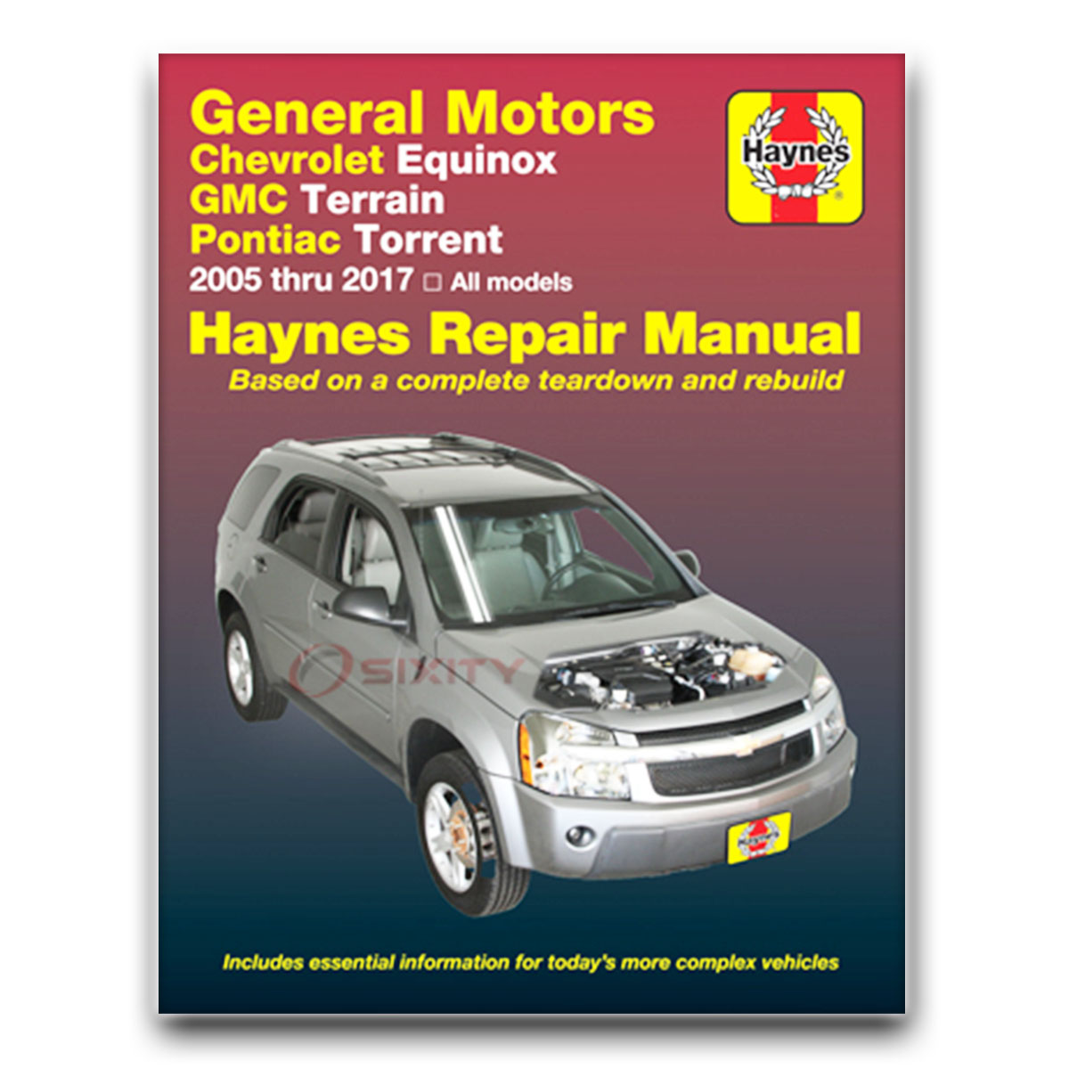 Haynes Repair Manual 38040 for Chevrolet Equinox Pontiac Torrent 05-09 Shop  zy