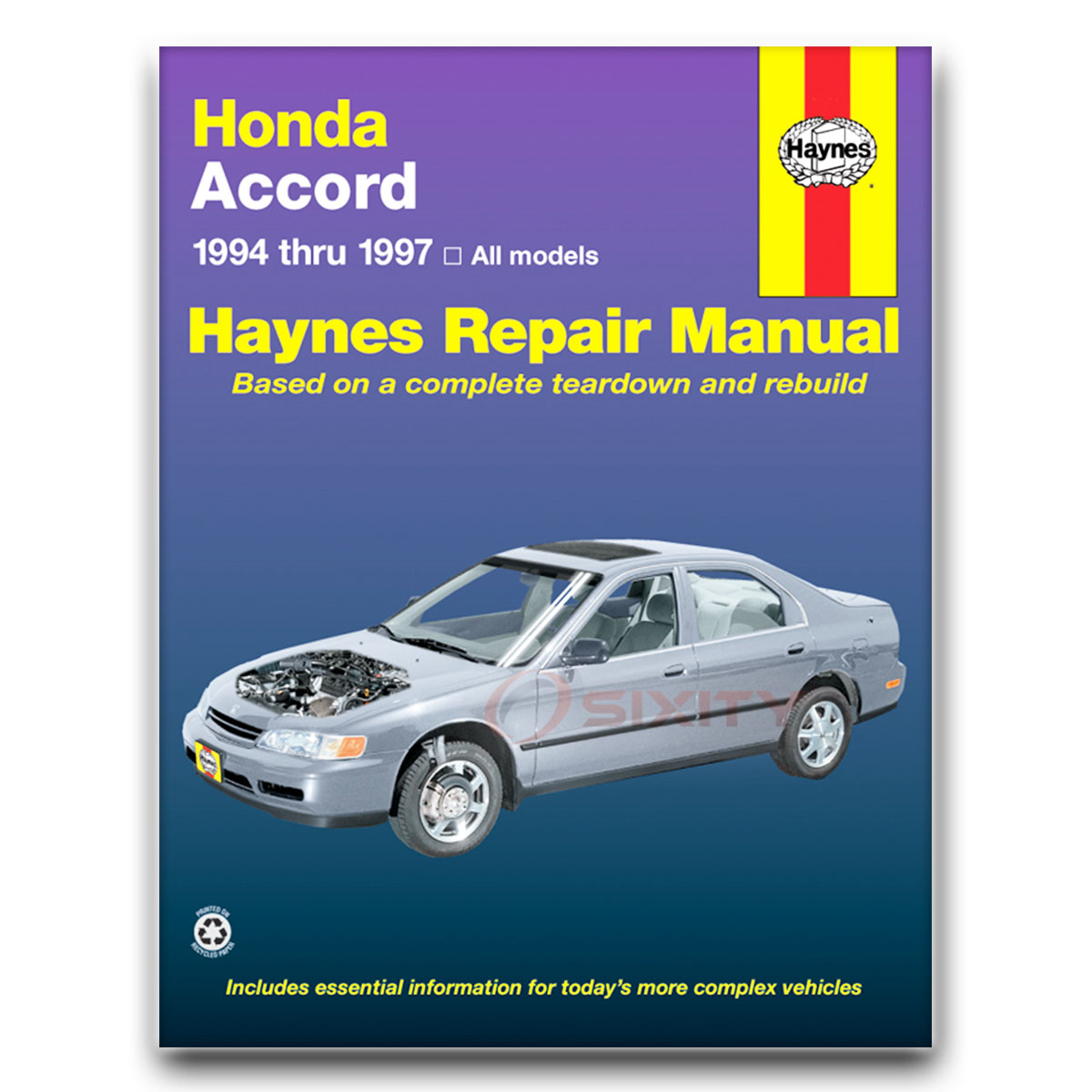 haynes repair manual 42013 for honda accord 94 97 shop service rh ebay com Honda  Accord Repair Manual Online 2000 Honda Accord Repair Manual
