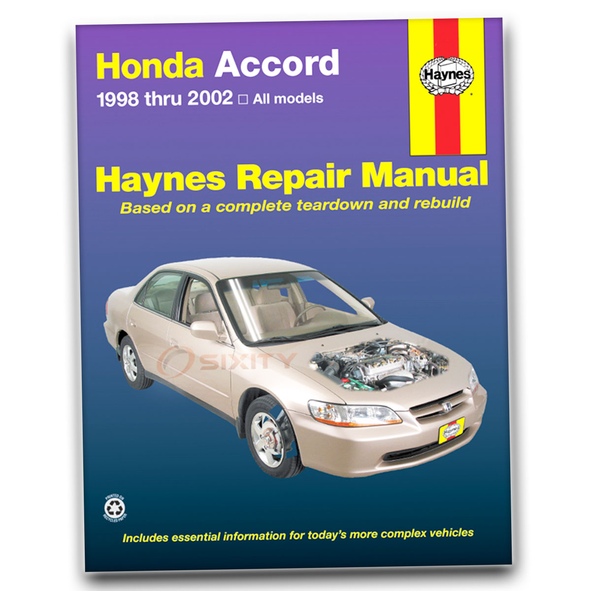 Haynes Honda Accord 98 02 Repair Manual 42014 Shop Service Garage Rh Ebay  Com 97 Honda CR V 98 Honda CR V Gas Mileage