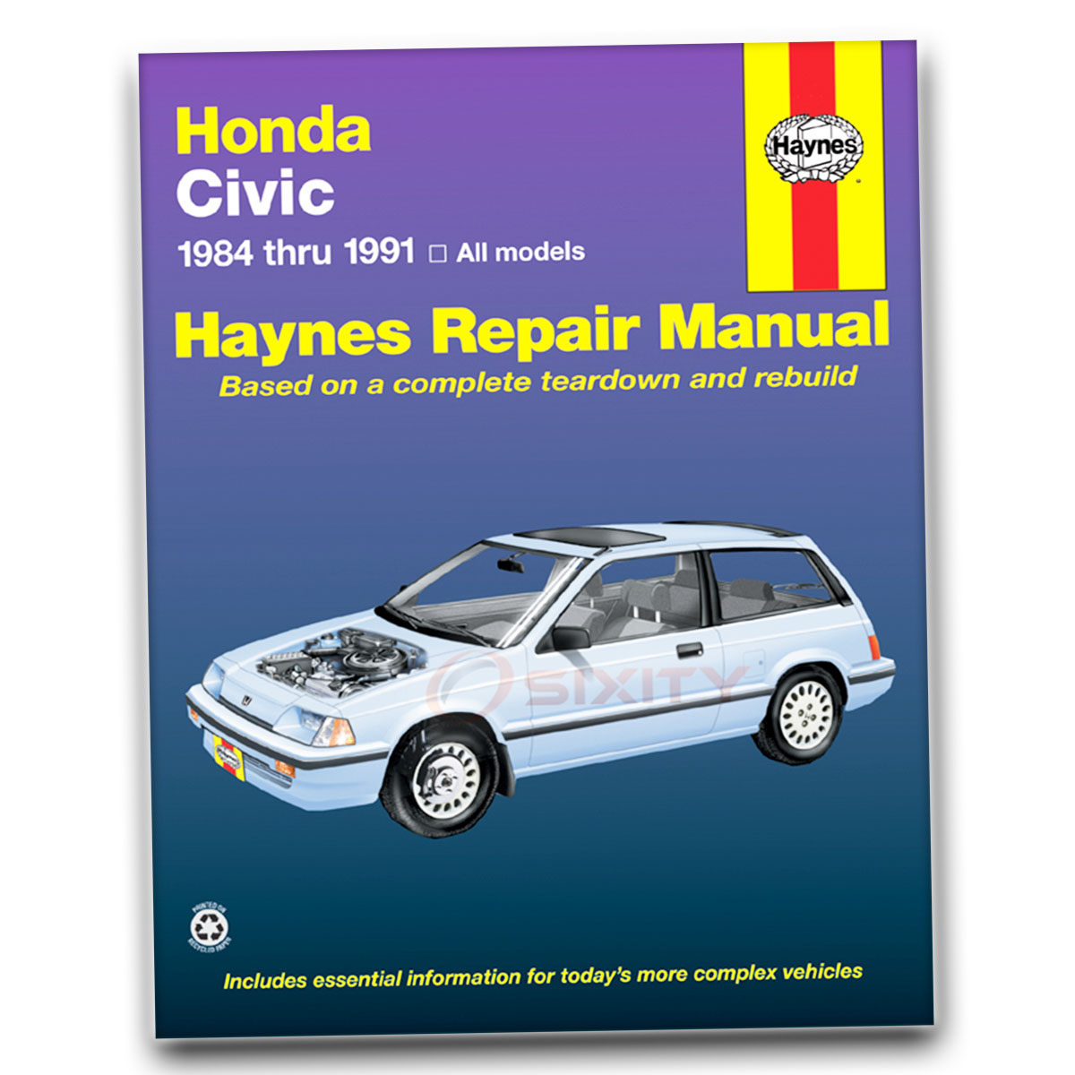 Haynes Repair Manual 42023 for Honda Civic 84-91 Shop Service Garage Book zq