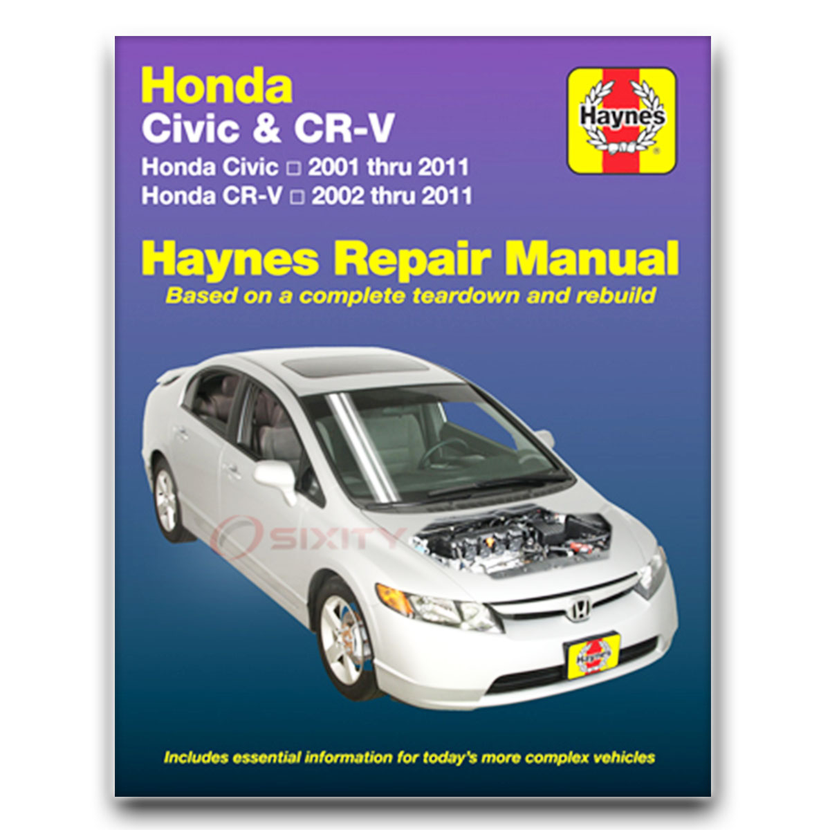 Haynes Repair Manual 42026 for Honda Civic 01-10 and CR-V 02-09 Shop Service  vt