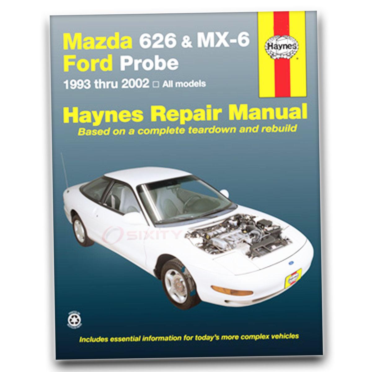 Haynes Repair Manual 61042 for Mazda 626 MX-6 Ford Probe 93-02 Shop Service  ar