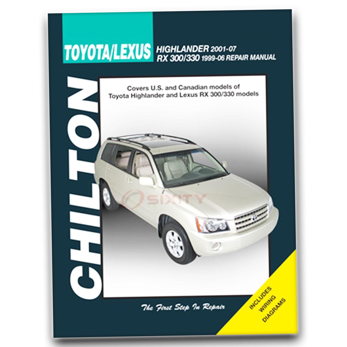 Chilton Repair Manual 68354 for Toyota Highlander 2001-07 Lexus RX 300 330  ud