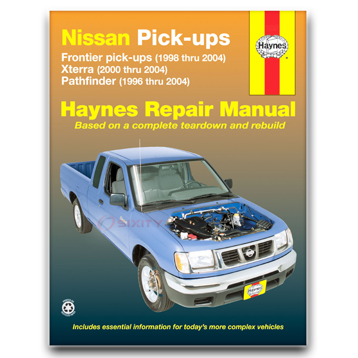 Haynes Repair Manual 72031 for Nissan Frontier Pick-up 98-04 Pathfinder rr