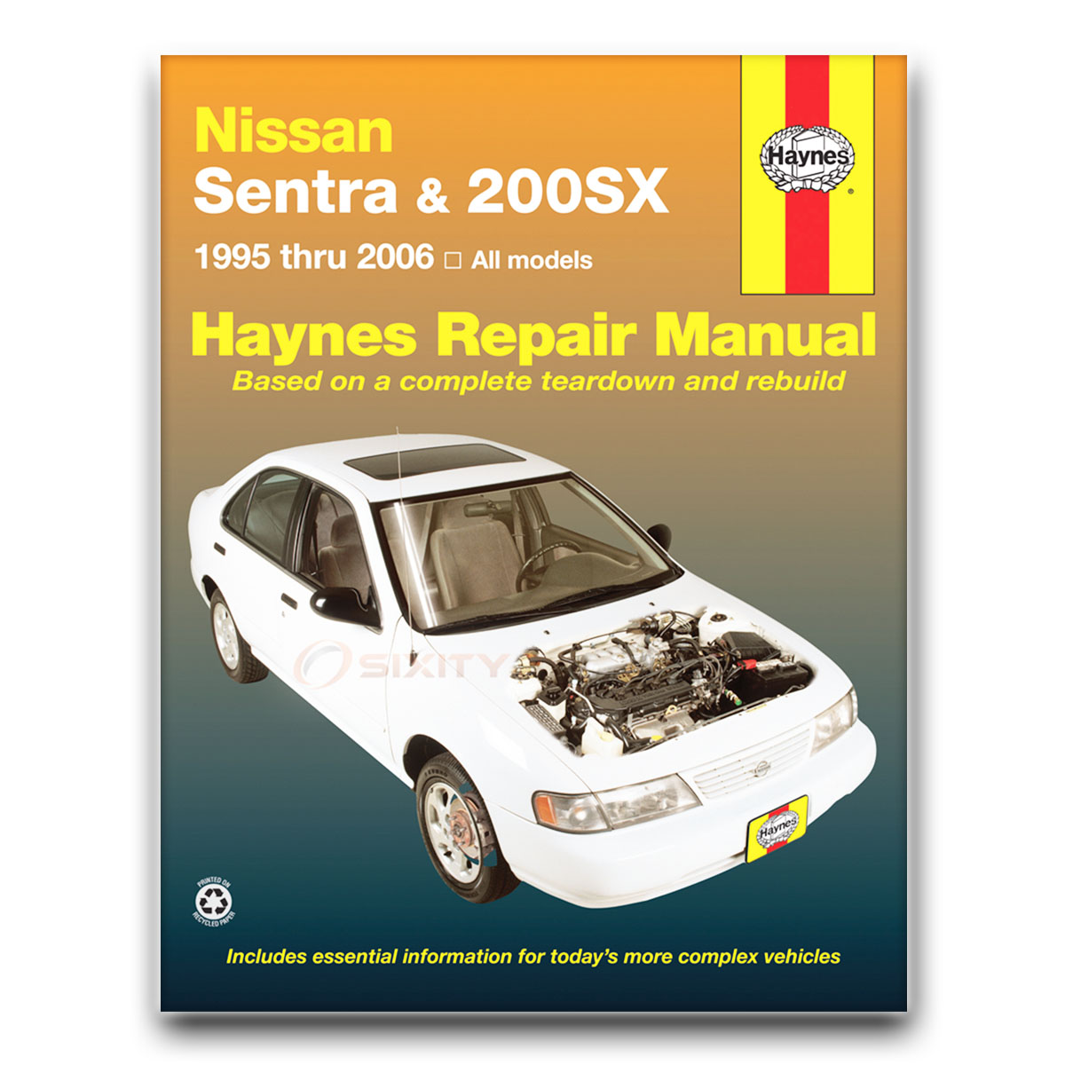 Haynes Repair Manual 72051 For Nissan Sentra 200sx 95 06 Shop Datsun 300zx Turbo Exhaust Diagram Category Service Garage Yb