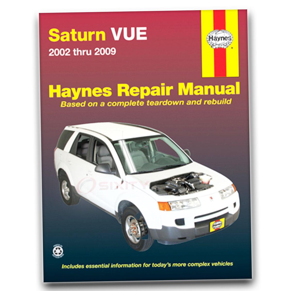 Haynes Saturn Vue 02-07 Repair Manual 87040 Shop Service Garage Book aq
