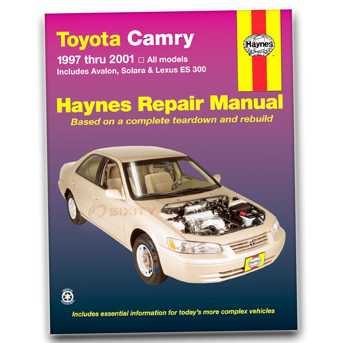 haynes toyota camry avalon solara lexus es 300 97 01 repair manual rh ebay com 2013 Toyota Camry Replacement Body Parts Diagram Toyota Camry Electrical Wiring Diagram