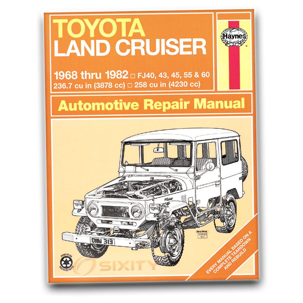 Haynes Repair Manual 92055 For Toyota Land Cruiser Fj40 43 45 55 60 2000 Tundra Electrical Schematics 1563920239 038345003134