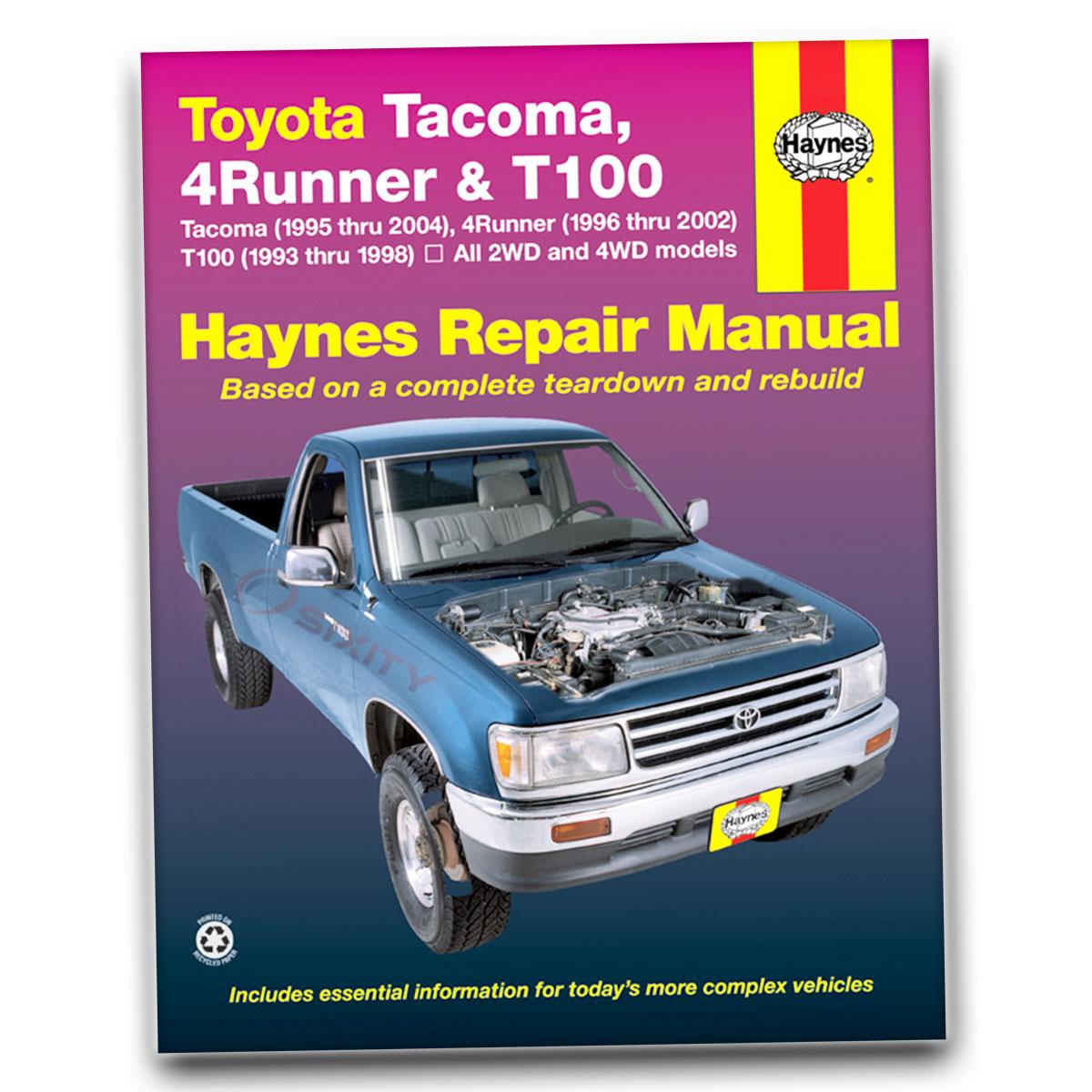 Haynes Repair Manual 92076 For Toyota Tacoma 95 04 4runner 96 02 Saturn Wiring Diagram 1563926261 038345920769