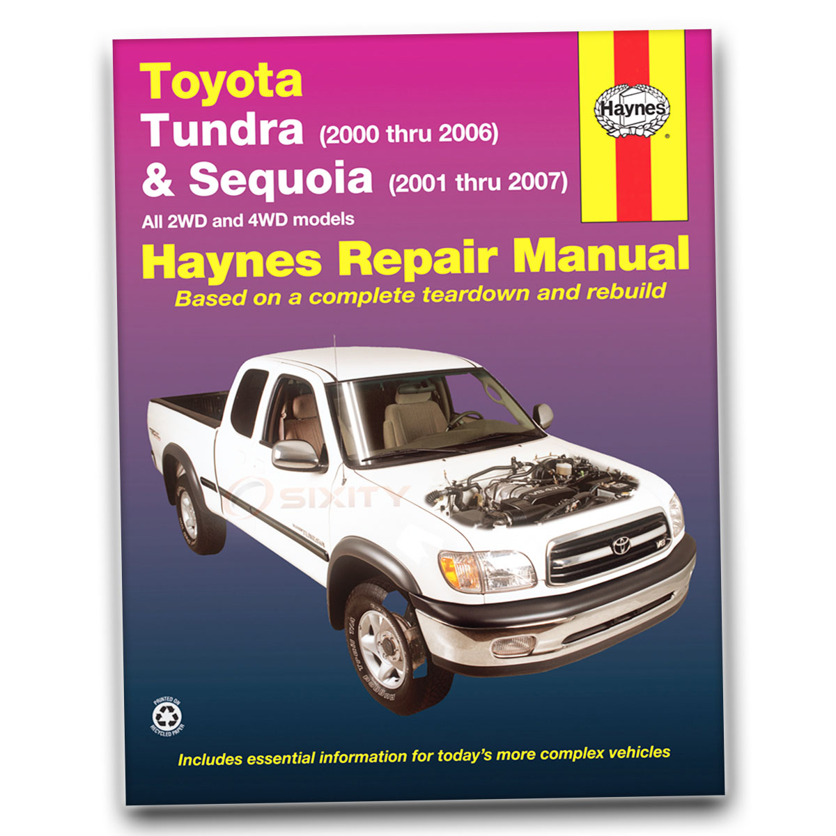 Haynes Repair Manual 92078 for Toyota Tundra 00-06 Sequoia 00-07 Shop sl