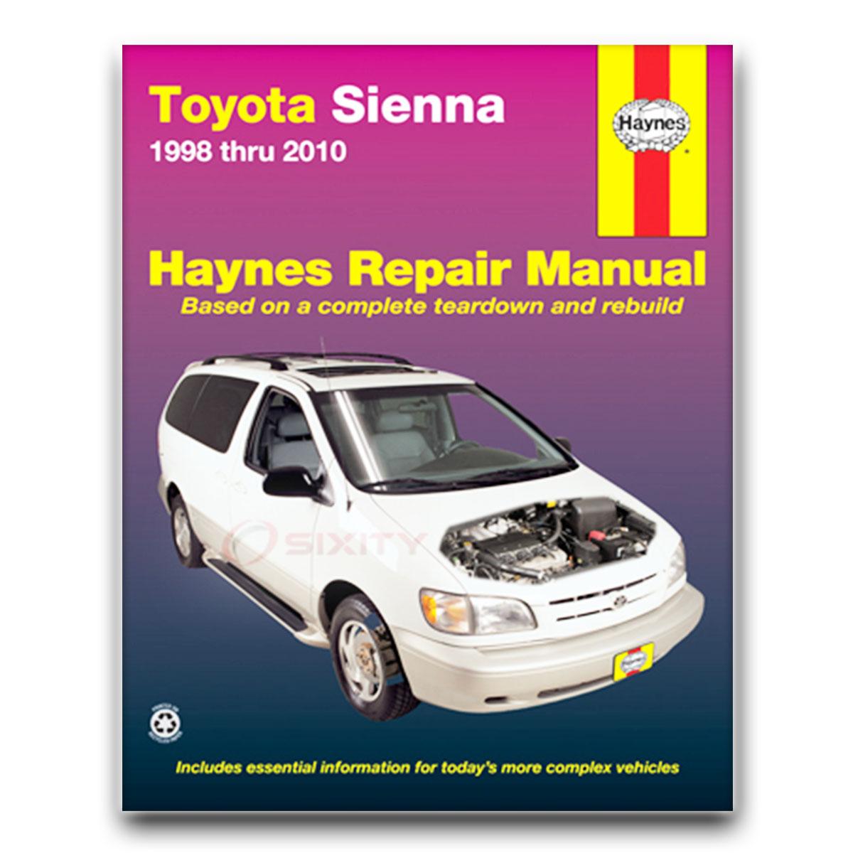 3019092090image1 haynes toyota sienna 98 09 repair manual 92090 shop service garage toyota tacoma repair diagrams at readyjetset.co