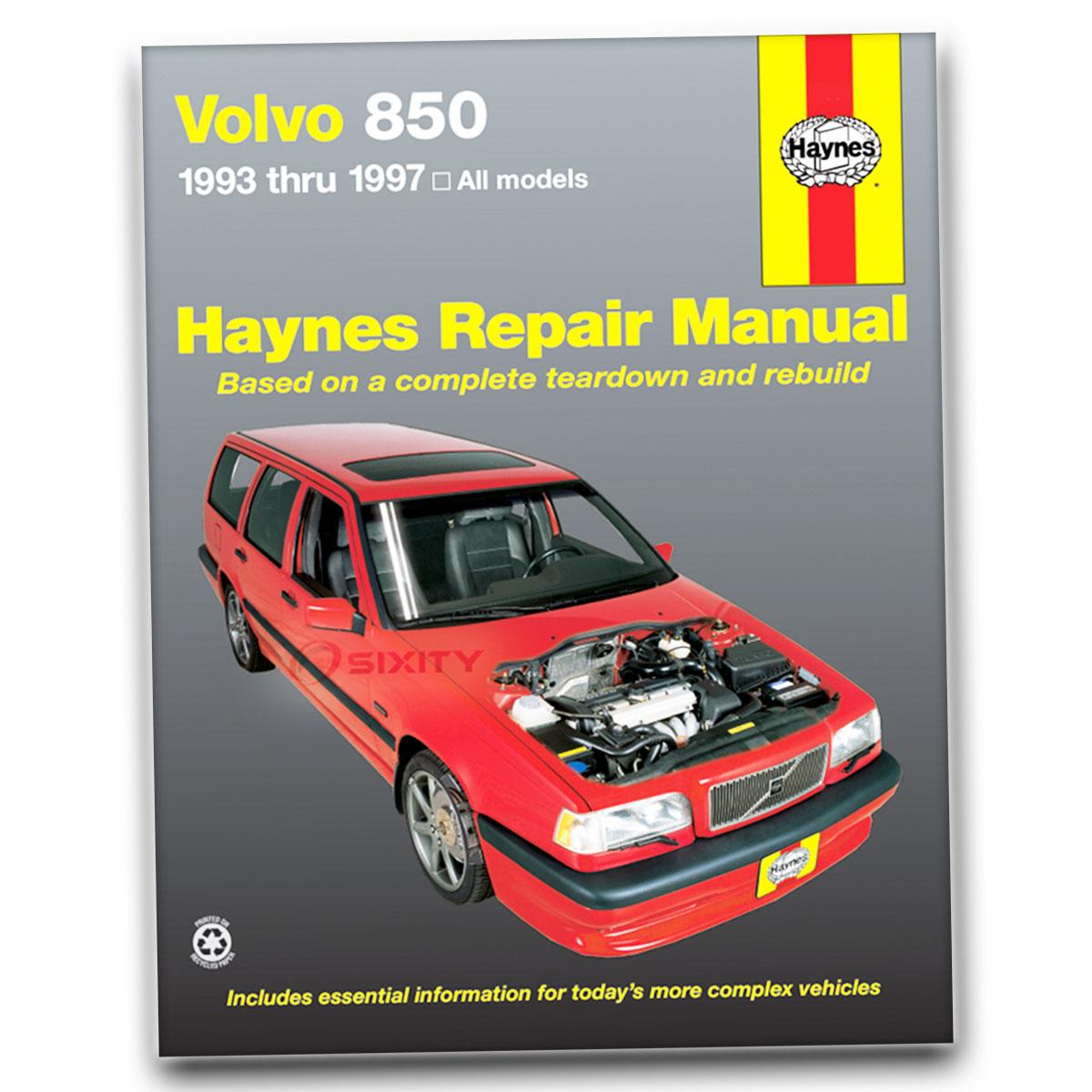 Haynes Repair Manual 97050 for Volvo 850 Series 93-97 Shop Service Garage ja