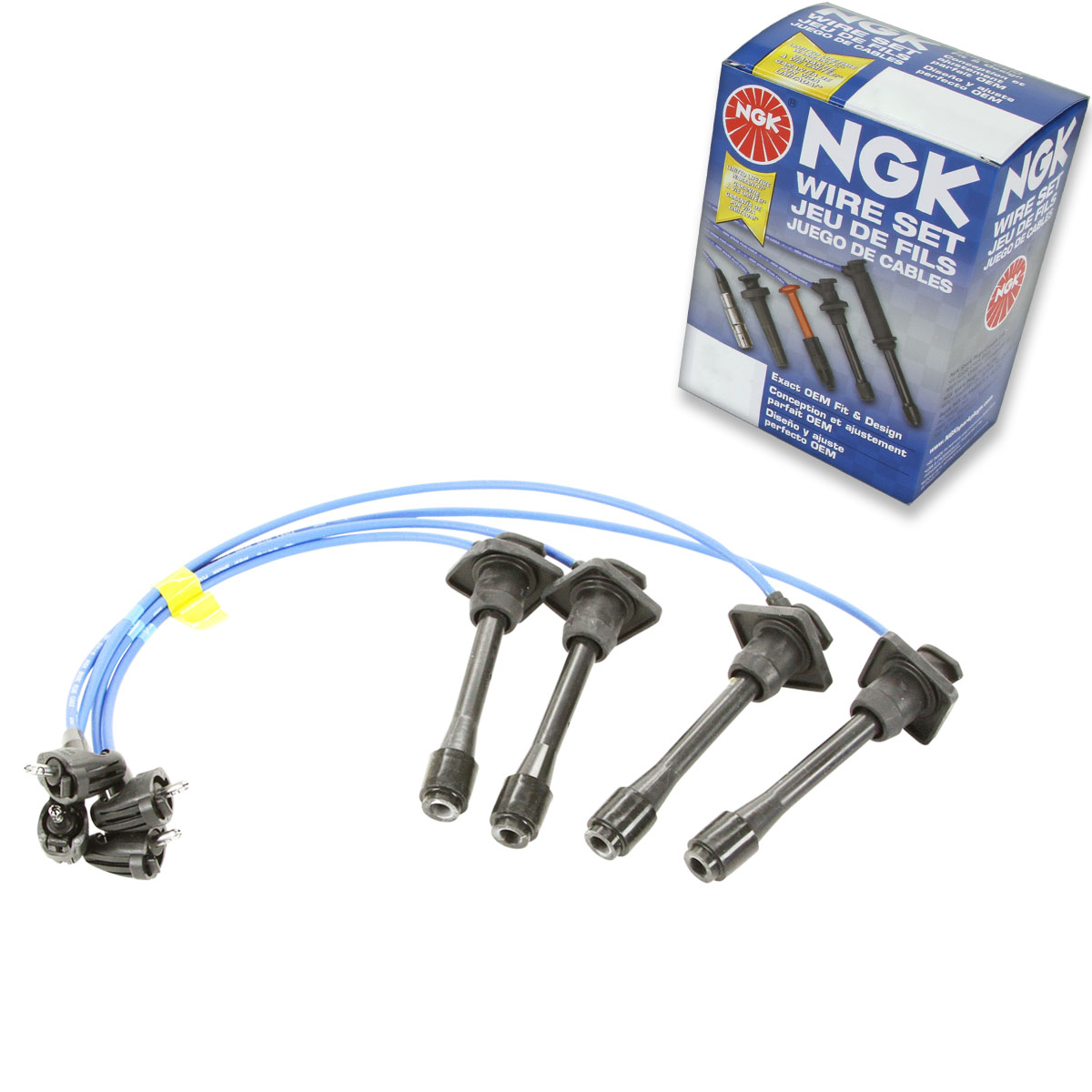 NGK Spark Plug Wires Set of 4 New TE21 for Toyota Corolla Celica Geo