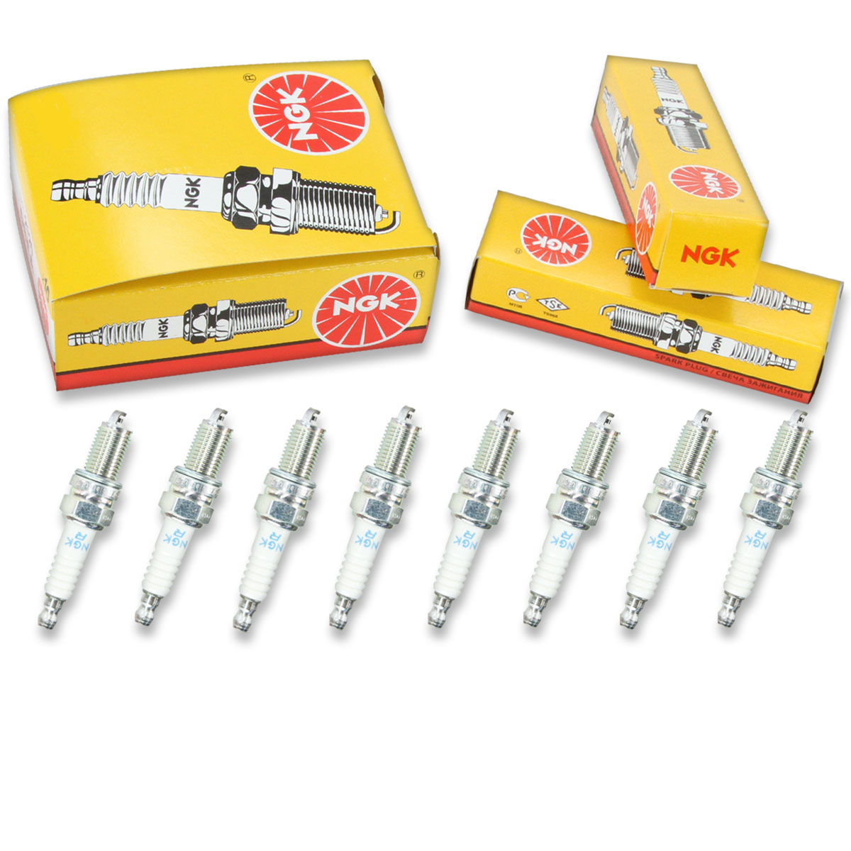 8 pc 8 x NGK Standard Plug Spark Plugs 3932 DCPR7E 3932 DCPR7E Tune Up Kit md