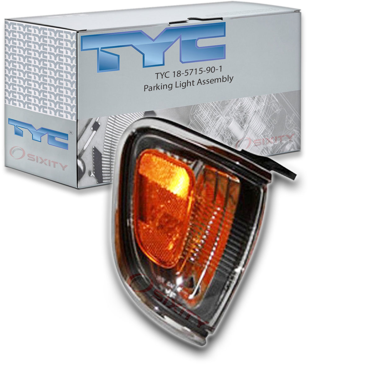 TYC 18-5715-90 Toyota Tacoma Passenger Side Replacement Parking Lamp