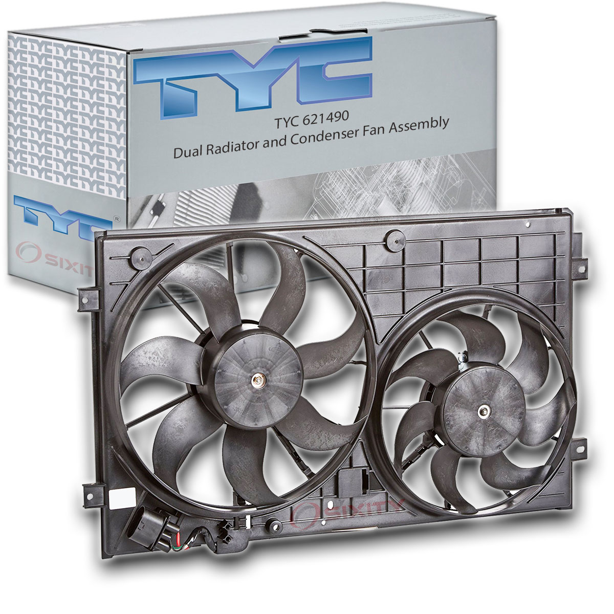 TYC 621490 Replacement Cooling Fan Assembly for Volkswagen